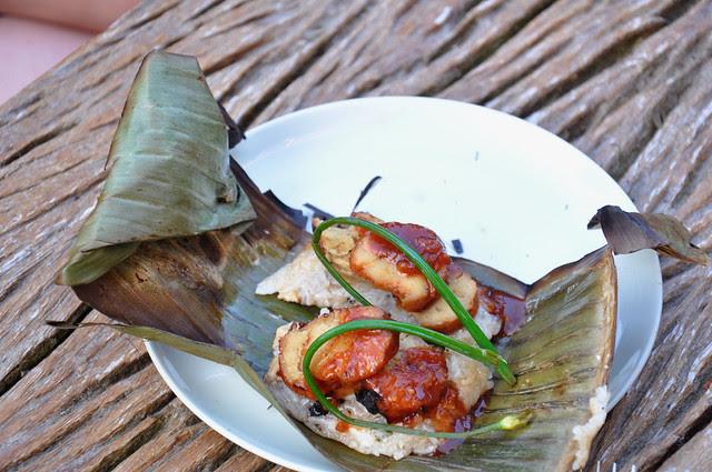 char siu seitan & sticky rice