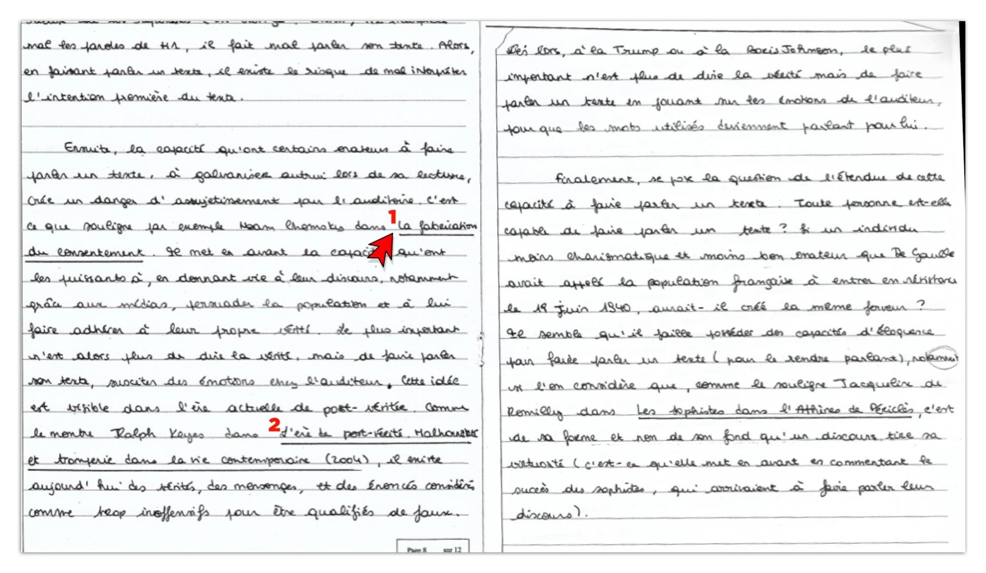 Correction dissertation philo gratuite