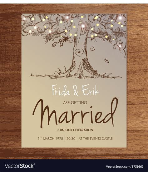 WEDDING INVITATION TEMPLATE MOCK UP DESIGN LAYOUT Vector Image