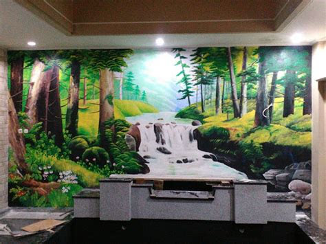 lukisan dinding  kamar tidur  keren