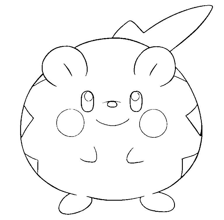 Dibujo Para Colorear Pokemon Sol Y Luna Togedemaru 15