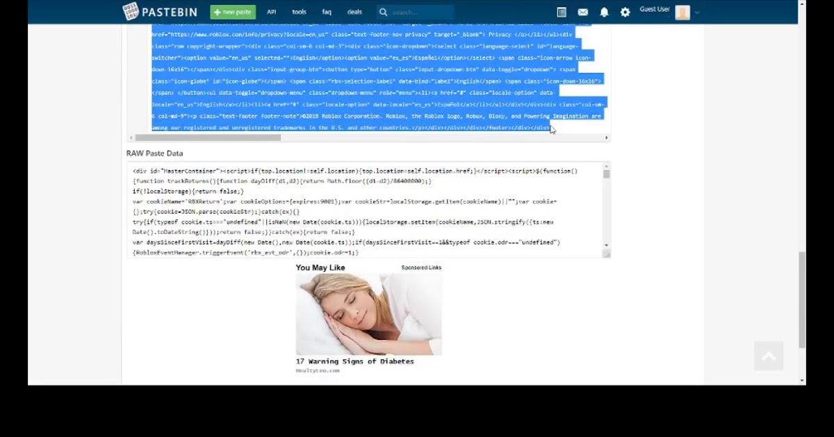 Pastebin Roblox Account Hack 2018 - Robux Hack Free Pastebin Get 25 Robux