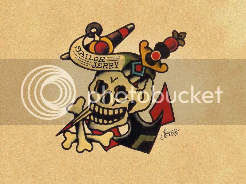 sailor jerry skull and crossbones