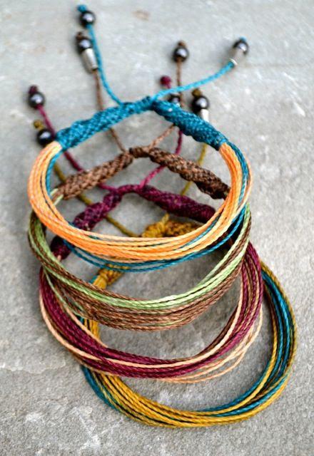 Rumi Sumaq Multicolored Fringe Macrame Bracelet #festival #fashion