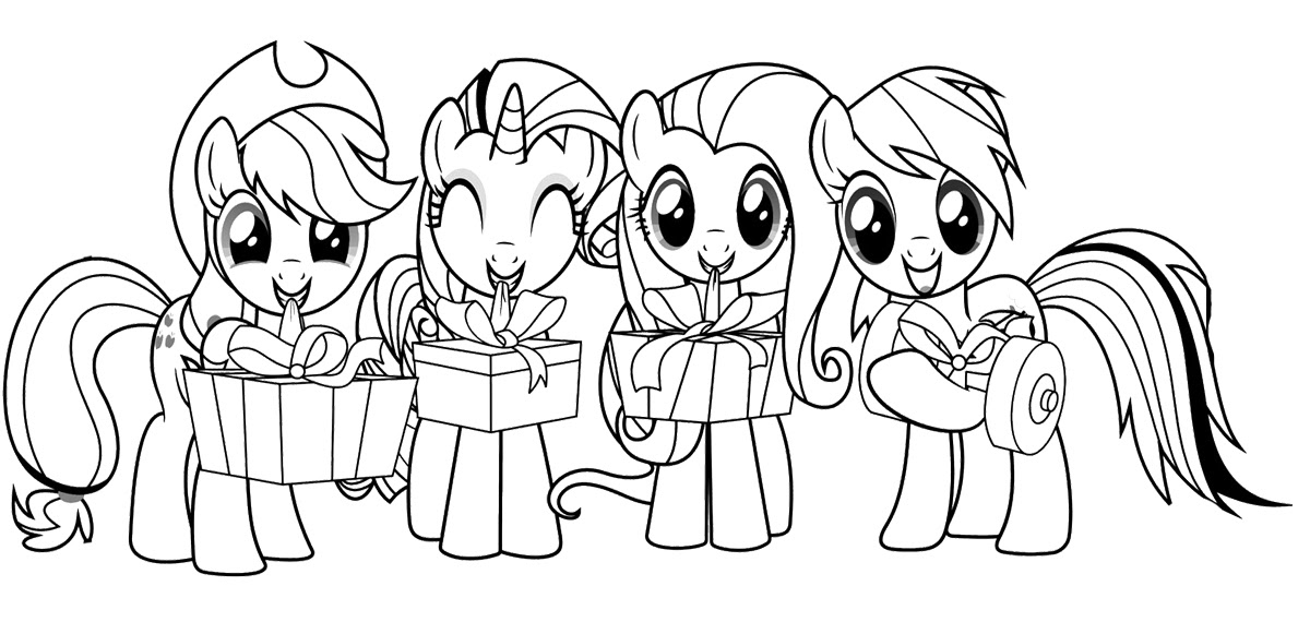 My Little Pony Coloring Pages Rainbow Dash Fluttershy Applejack