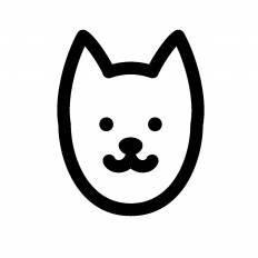 日本犬シルエット イラストの無料ダウンロードサイトシルエットac