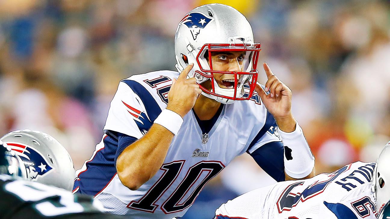 New England Patriots will start Jimmy Garoppolo in preseason finale
