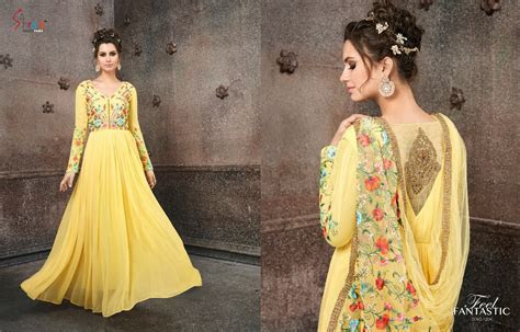 SHREE FABS MIRZA BRIDAL PARTY GOWNS FOR WEDDING AT