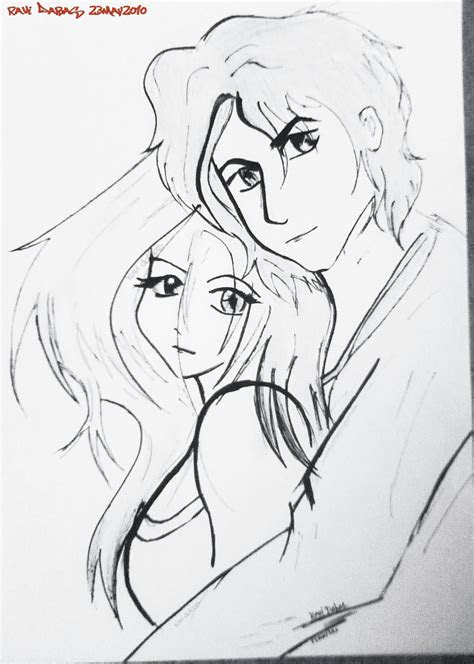leisure romantic couple sketch