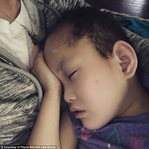 The Meekers knew Carys (pictured) was suffering from spinda bifida, which can cause nerve and mental defects, but say they were not told that she is also blind, deaf, and suffering from hepatitis C and epilepsy