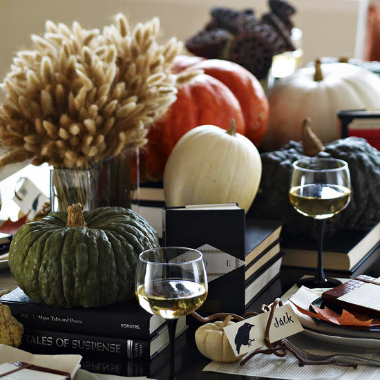 Book-and-Pumpkin Centerpiece