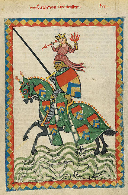medieval knight and horse
