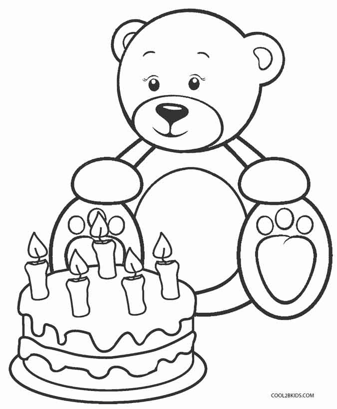 Printable Teddy Bear Coloring Pages For Kids | Cool2bKids