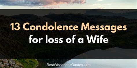These Condolence Messages for the Loss of a Wife are Unique