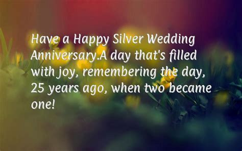 25th Anniversary Wishes ? Happy Silver Wedding Anniversary