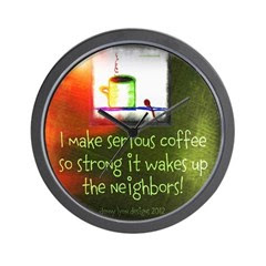 Funny Serious Coffee Quote Wall Clock