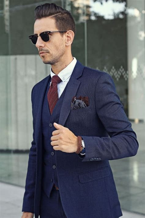 Latest Coat Pant Designs Navy Blue Suits Slim Fit Skinny