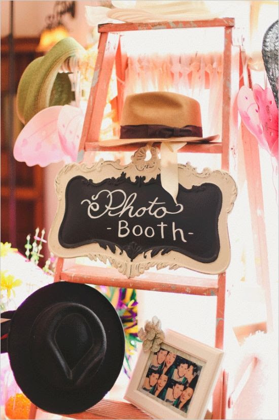 diy photo booth ideas #photobooth #diy #weddingchicks http://www.weddingchicks.com/2014/03/25/hot-pink-and-purple-two-day-wedding/