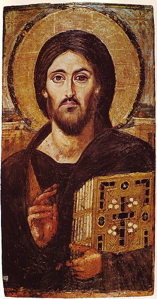 Fichier:Christ Icon Sinai 6th century.jpg