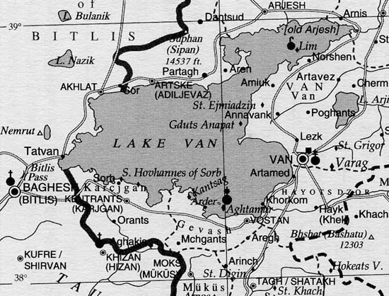 Lake Van and its environment in the Van vilayet of the Osman Empire, 1914