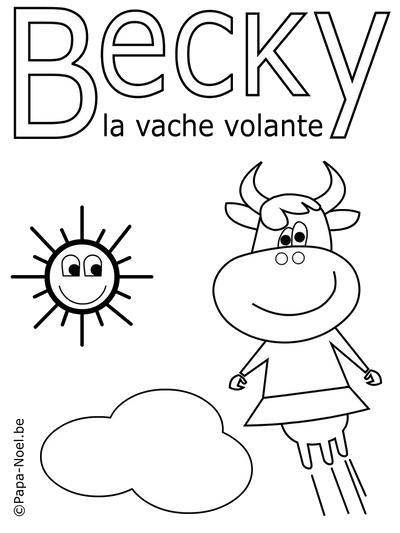 Coloriage de Becky la vache à imprimer gratuit