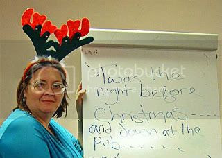 A Literary Reindeer..., Getting in the Christmas spirit at the 2011 NWC Awards Night