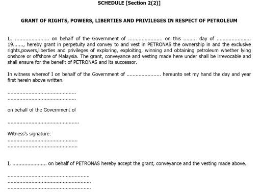 Petroleum Act Agreement