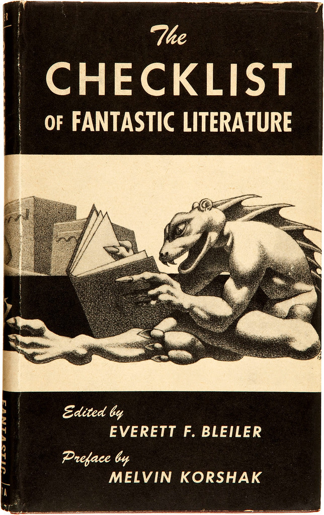 Hannes Bok - The Checklist of Fantastic Literature. A Bibliography of Fantasy, Weird, and Science Fiction Books Published in the English Language. Shasta Publishers, 1948