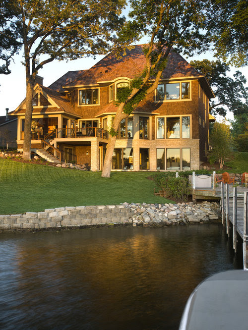 Lake House Exterior Home Design Ideas, Pictures, Remodel and Decor