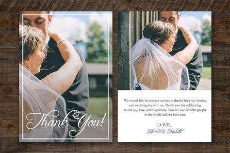 Wedding Thank You Card PSD Template ~ Card Templates