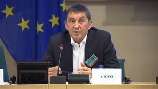 El líder de Sortu, Arnaldo Otegi, al Parlament Europeu