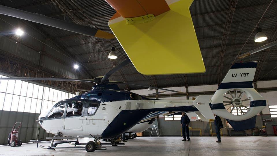 Vidal venderá la mayor parte de la flota aérea con problemas técnicos La provincia se desprenderá de helicópteros y aviones que compraron Duhalde y Scioli en sus gobiernos y ya no funcionan; busca achicar los costos de mantenimiento. Foto: María Eugenia Cerutti / AFV