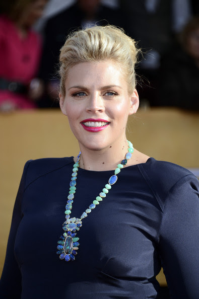 Actress Busy Philipps arrives at the 19th Annual Screen Actors Guild Awards held at The Shrine Auditorium on January 27, 2013 in Los Angeles, California.