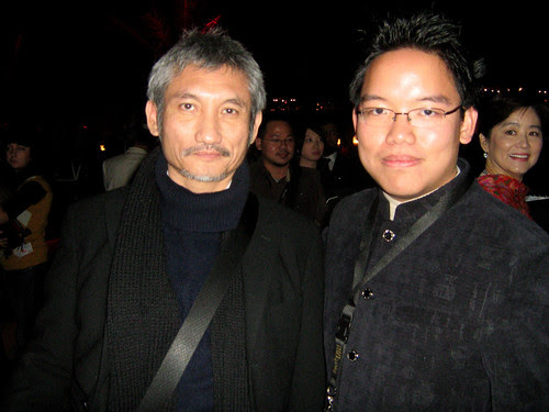 With Tsui Hark (and behind me was Brigitte Lin!), Dubai Film Fest 2008 Closing Ceremony