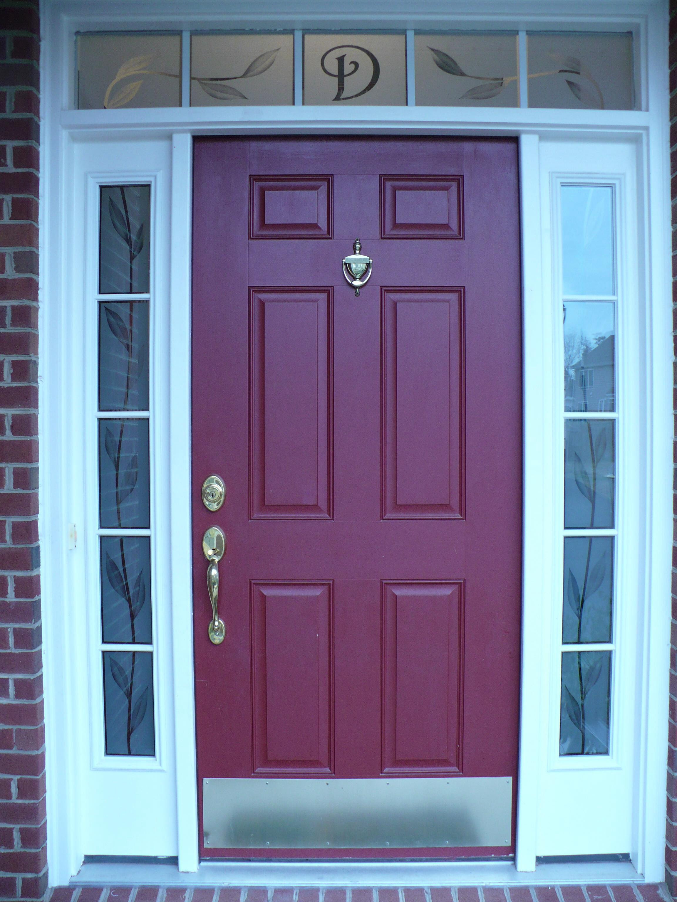 16 Front Door Frosted Glass Designs Image