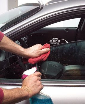 Don't forget the grime at the top of all windows.