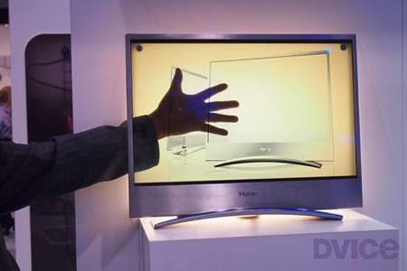 Haier nos presenta una TV OLED transparente