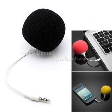 3.5 mm Balloon Speaker Audio Dock with Sponge Hat - Black
