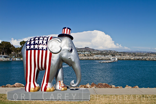 Elephant Parade: Welcome to America Triumph of Liberty by Sona Mirzaei Dana Point, California, USA Elephant Parade is an open air art exhibition designed to raise public awareness and support for the cause of elephant conservation. Making their first US appearance thirty life-sized baby elephants will be on display throughout Dana Point from August 23 through November 7 2013.