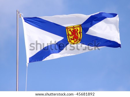 stock photo : Nova Scotia Flag