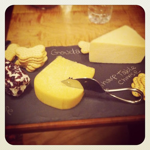 Slate cheese board and mouse knife! #latergram