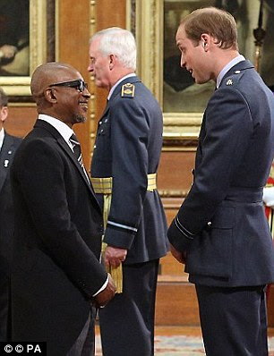 Forde with Prince William at Windsor Castle