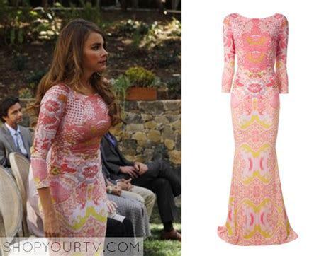 Gloria's (Sofia Vergara's) dress from Mitch & Cam's
