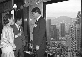NETWORKING: In 1985 Gov. Bill Clinton of Arkansas and his wife, Hillary, met with Mochtar Riady, Lippo Group's founder. Riady's son, James, pleaded guilty in 2001 to a U.S. fraud charge.