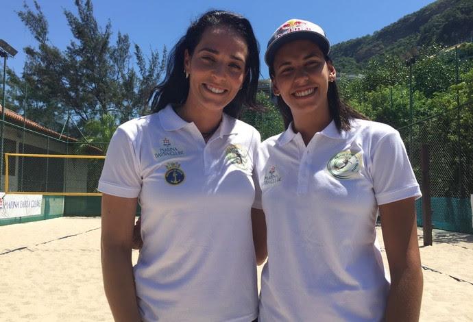 Ágatha e Duda treinarão na tranquilidade de clube da Barra da Tijuca (Foto: Flávio Dilascio)