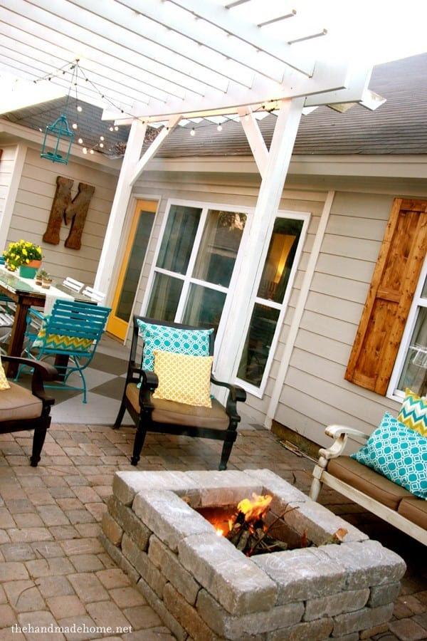 backyard bliss: installing patio pavers and a fire pit ...