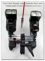 DF1049: Dual Flash Stand - Metal - Setup