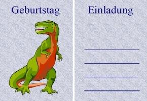 Dinosaurier Einladungskarten