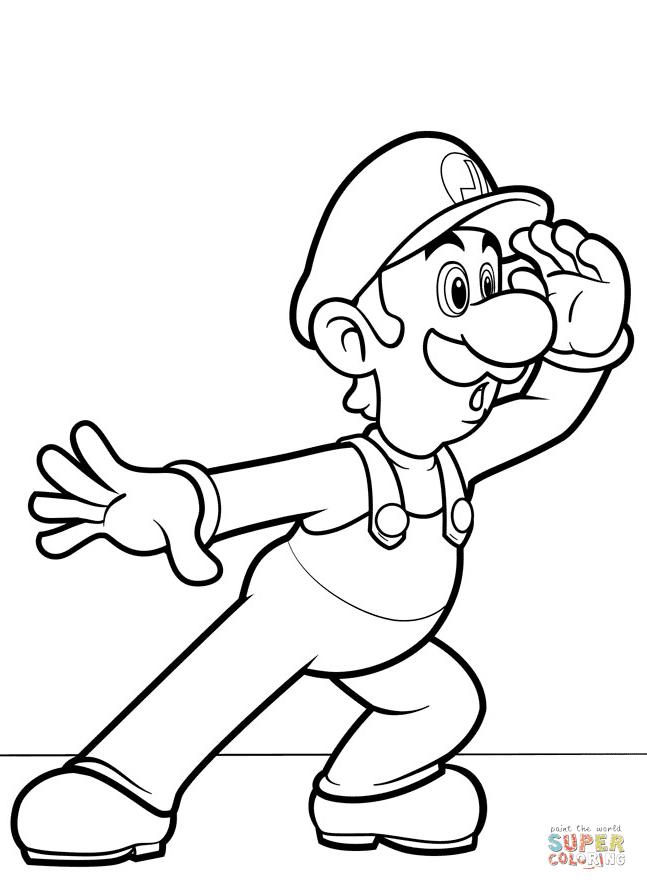 Mario Y Luigi Coloring Pages