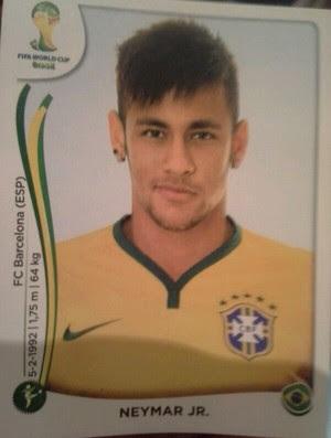 Neymar Album da Copa (Foto: Fabrício Crepaldi/GloboEsporte.com)